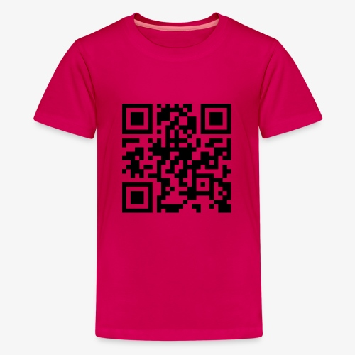QR Code - Teenage Premium T-Shirt