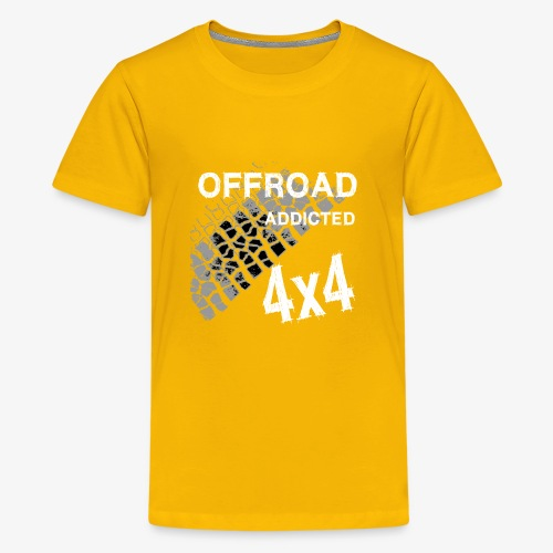 Defender Land-Rover OFF Road White - Teenager Premium T-Shirt