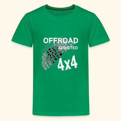 OFFroadAddictedWhite - Teenager Premium T-Shirt