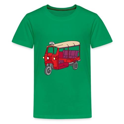 Rote Autorikscha, Tuk-tuk - Teenager Premium T-Shirt