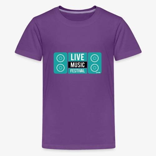 Amo la música - Camiseta premium adolescente