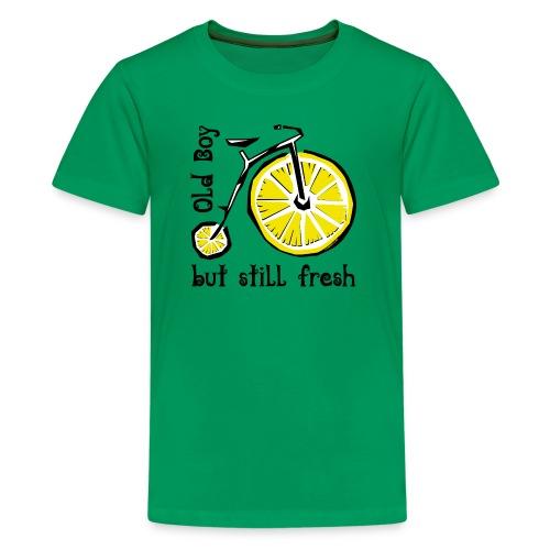 OLD BOY BUT STILL FRESH Textiles and Gifts - Teinien premium t-paita