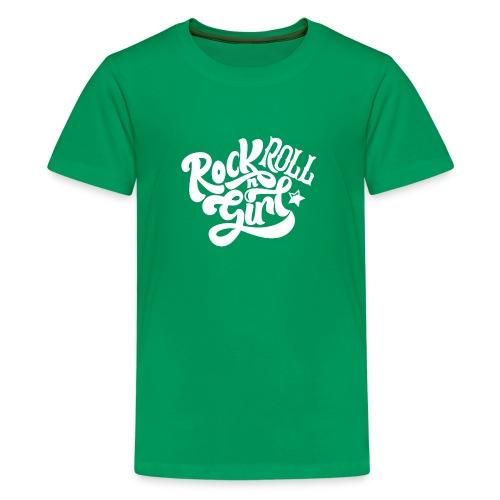 Rock n Roll Girl - Teinien premium t-paita