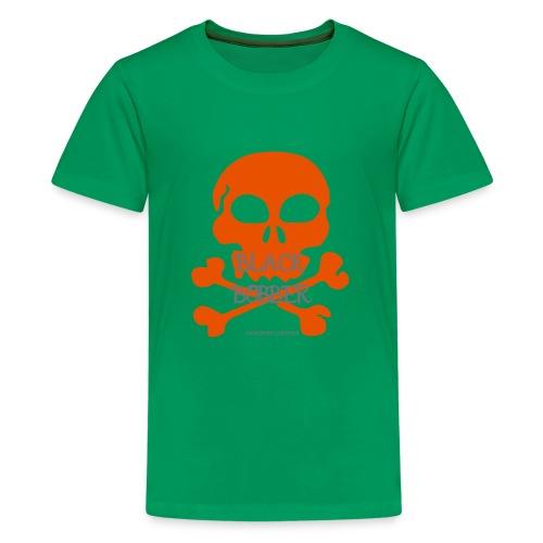 Black Bobber - Chopper Skull Totenkopf -Jackseven - Teenager Premium T-Shirt