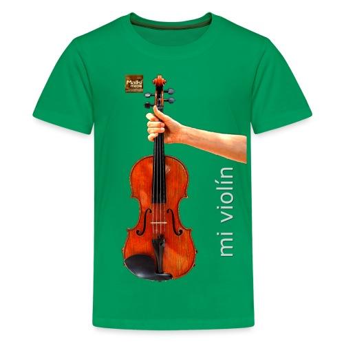 MI violín - Camiseta premium adolescente