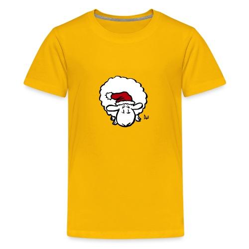 Santa Sheep (red) - Teenage Premium T-Shirt
