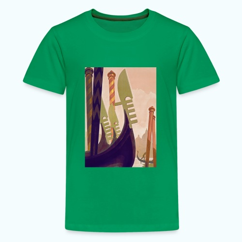 Venice vintage travel poster - Teenage Premium T-Shirt