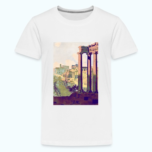 Rome Vintage Travel Poster - Teenage Premium T-Shirt
