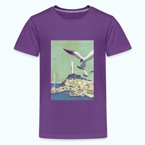 San Francisco Vintage Travel Poster - Teenage Premium T-Shirt