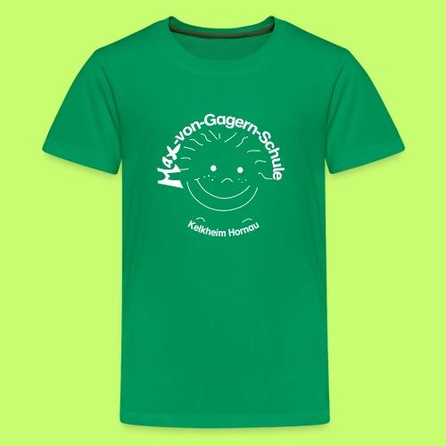 Mäxchen Logo weiß - Teenager Premium T-Shirt