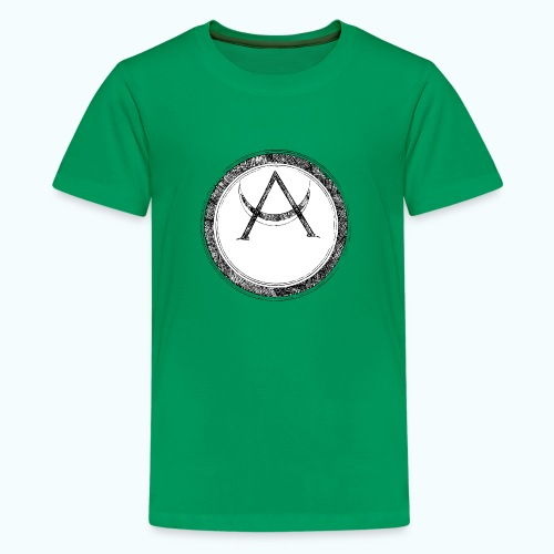 Mystic motif with sun and circle geometric - Teenage Premium T-Shirt