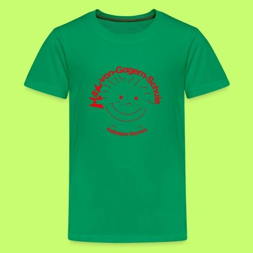 Mäxchen Logo rot - Teenager Premium T-Shirt