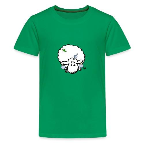 Christmas Tree Sheep - Teenage Premium T-Shirt