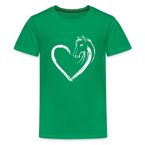 Vorschau: Pferde Herz - Teenager Premium T-Shirt