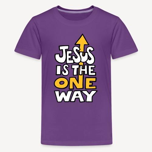 JESUS IS THE ONE WAY - Teenage Premium T-Shirt