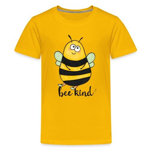 Bee Kind - Teenage Premium T-Shirt