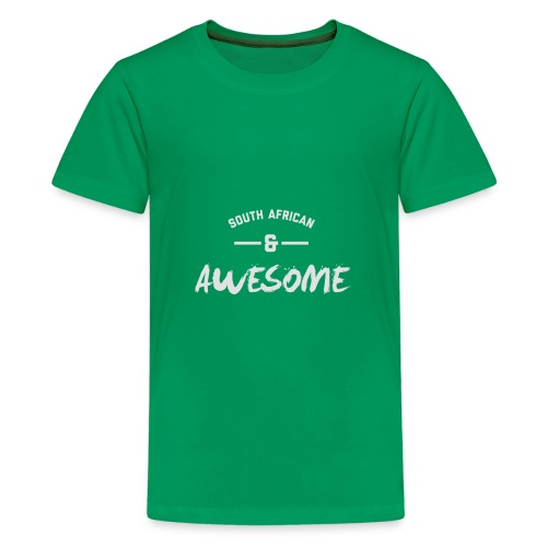 South African and Awesome - Teenage Premium T-Shirt