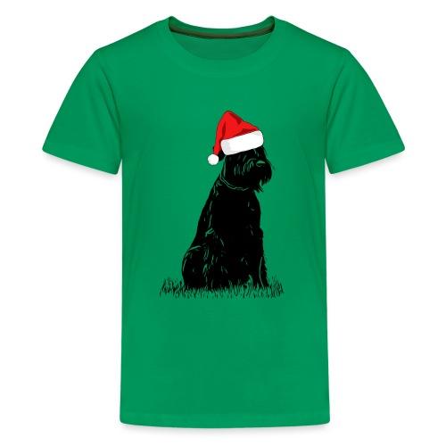 Riesenschnauzer Weihnachten Schnauzer Hund - Teenager Premium T-Shirt