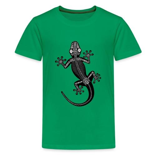 Gecko-Skelett - Teenage Premium T-Shirt