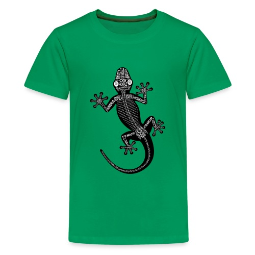 Gecko-Skelett - Teenager Premium T-Shirt