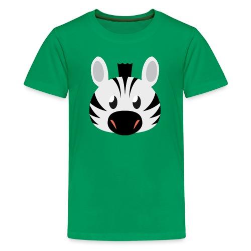 Zebra Zoe - Teenage Premium T-Shirt