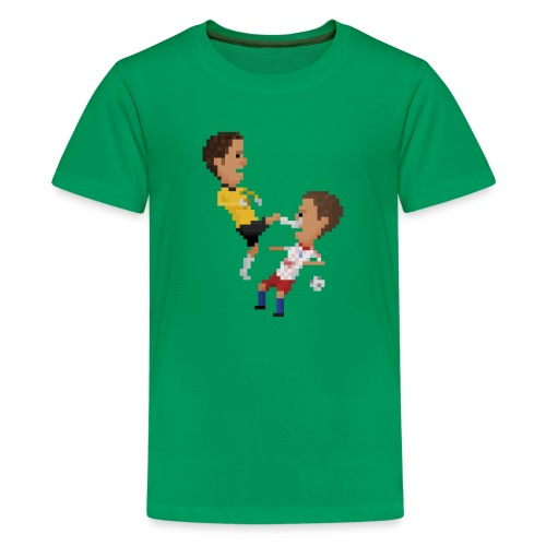 Kungfu goalkeeper from Bremen - Teenage Premium T-Shirt