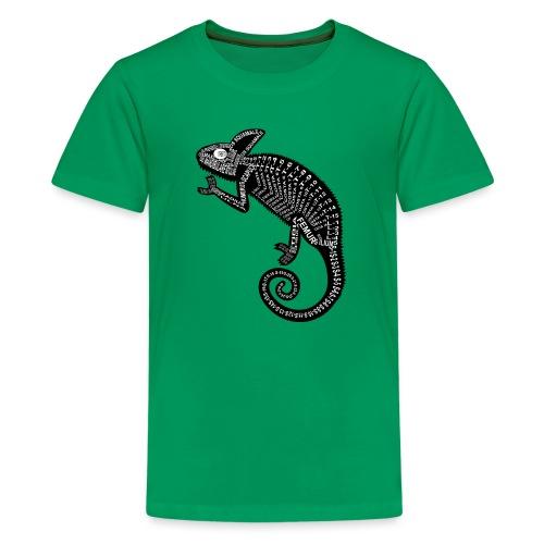 Chameleon Skeleton - Teenager premium T-shirt