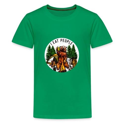 I Hate People Camping Hiking Here - Teenager Premium T-shirt