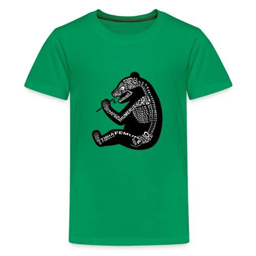 Panda-skjelett - Premium T-skjorte for tenåringer