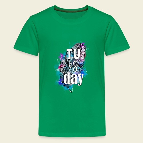 Tu-es-day Türkis - Teenager Premium T-Shirt