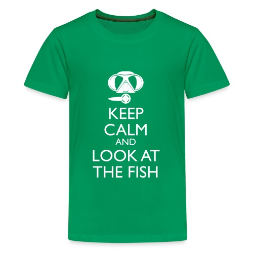 Keep calm and look at the fish - Teenager Premium T-Shirt