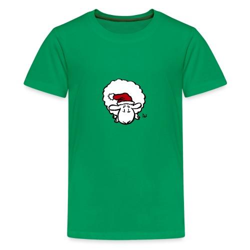 Weihnachtsschaf (rot) - Teenager Premium T-Shirt