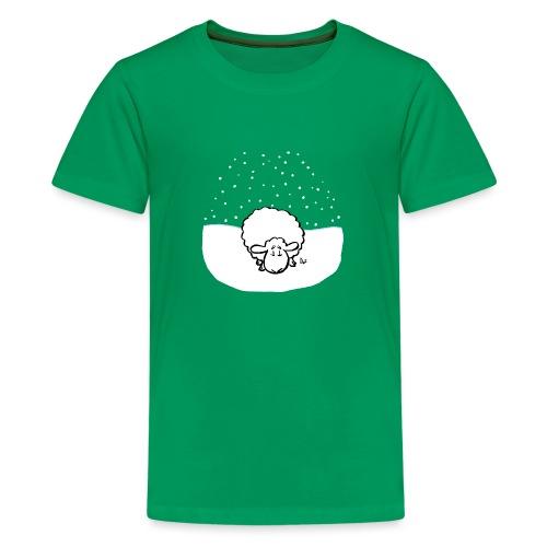 Schneebedeckte Schafe - Teenager Premium T-Shirt