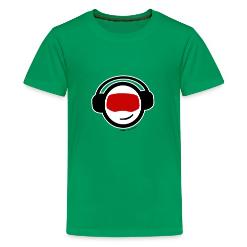 Hiber Head - black text - Teenage Premium T-Shirt