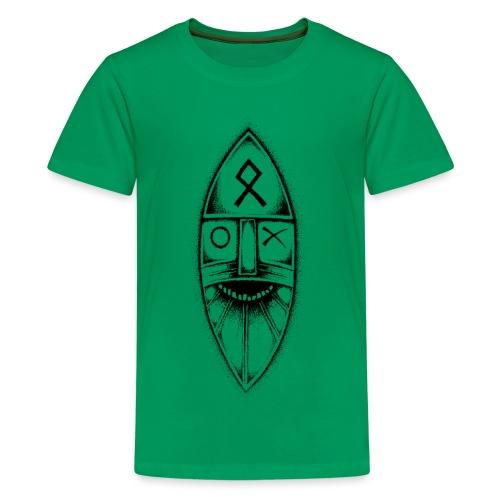 Odin / Wodan / Wotan Drawing - Teenage Premium T-Shirt