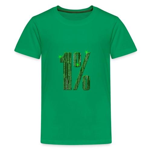 1 % Matrix - Teenager Premium T-Shirt