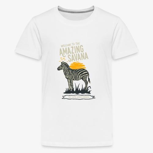 Zèbre - T-shirt Premium Ado