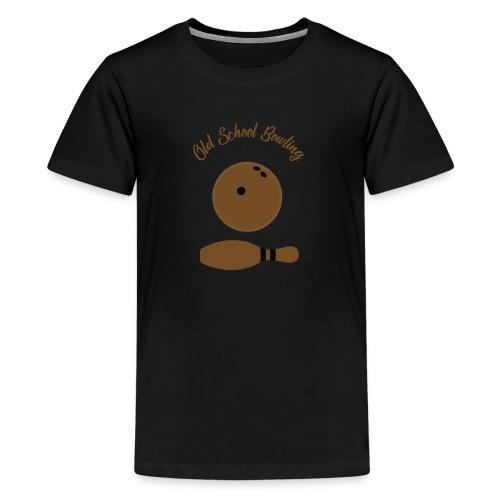 Old School Bowling - T-shirt Premium Ado