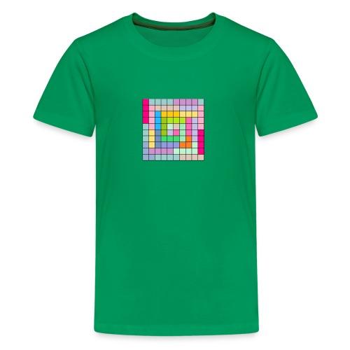 CUADRICULA4 - Camiseta premium adolescente