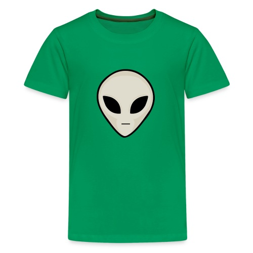 UFO Alien Head - Teenage Premium T-Shirt