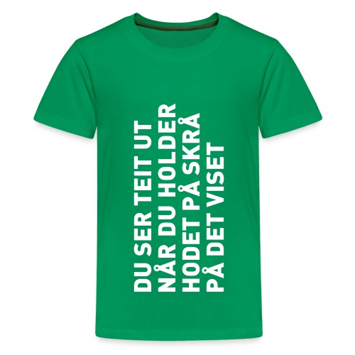Du ser teit ut... - Premium T-skjorte for tenåringer