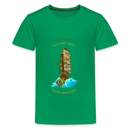 Retro-Segelschiff - Teenager Premium T-Shirt