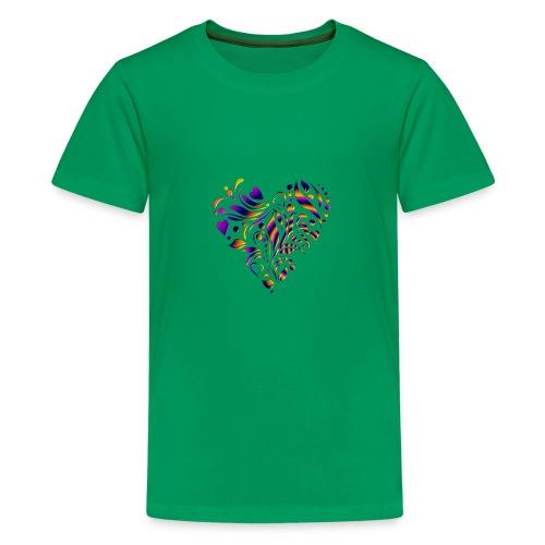 motif coeur multicolor - T-shirt Premium Ado