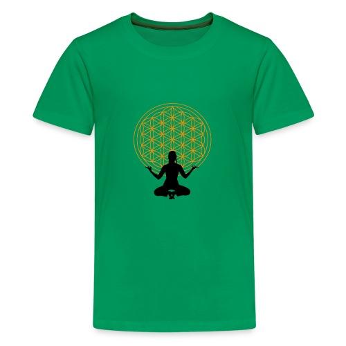 fleur de vie yoga 3 - T-shirt Premium Ado