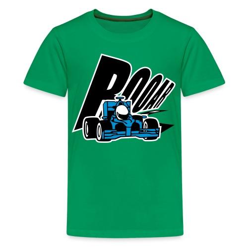 Cooler blauer Rennwagen - Teenager Premium T-Shirt