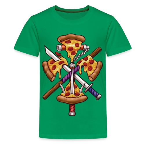 Ninja Pizza - Teenage Premium T-Shirt