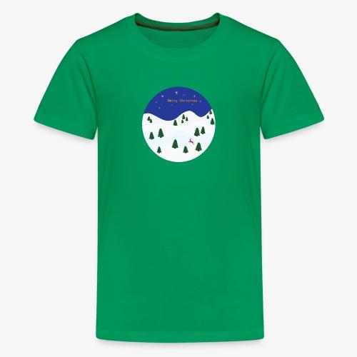 boule Noël bleue - T-shirt Premium Ado