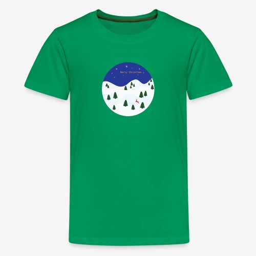 boule Noël bleue - Teenage Premium T-Shirt