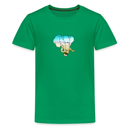 Elefant mit Steppe - Teenager Premium T-Shirt