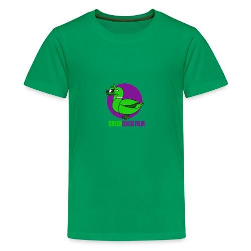 Greenduck Film Purple Sun Logo - Teenager premium T-shirt